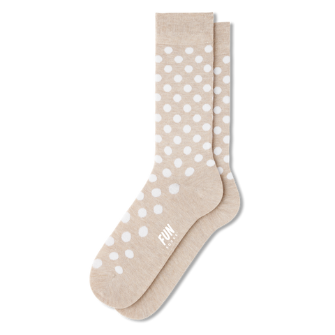 Men's Dots - Beige