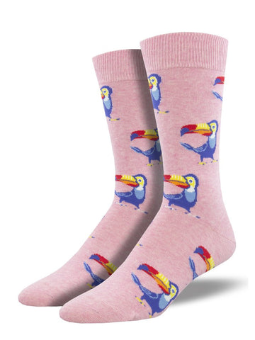 Men's Tropical Toucan - Pink Heather