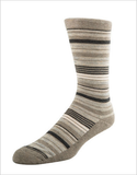 Men's Cushion Sole Stripe - Taupe Heather