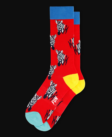 Men's Zebra - Red
