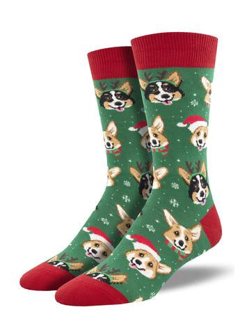 Men's Happy Pawlidays-Green