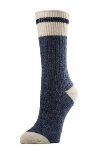 Women's Wool Work Sock Denim Heather