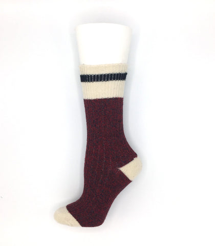 Women's Wool Work Sock - Red Heather