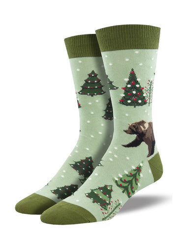 Men's Beary Christmas-Green