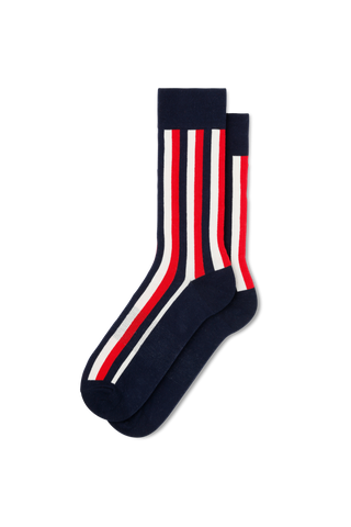 Vertical Stripe-Navy/White/Red