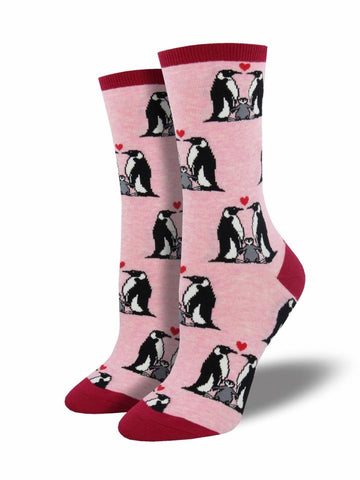 Women's Penguin Love - Pink Heather