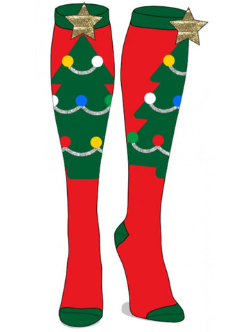 Christmas Tree Knee Highs