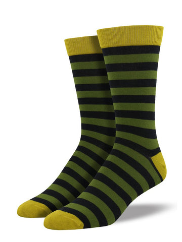 Men's Bamboo Stripe - Olive