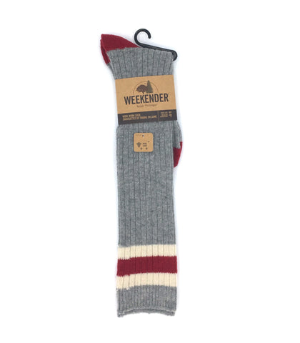 Knee High Wool Work Sock - Grey