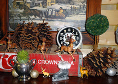 vintage christmas soda crate deer