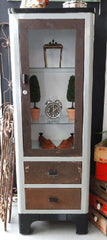 vintage metal dental cabinet medical