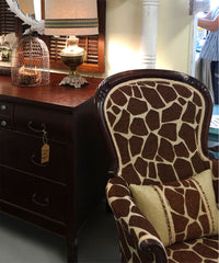 animal print antique chair