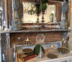 antique distressed mantle