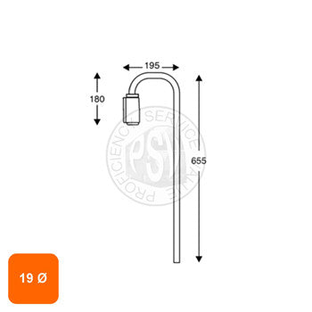 19mm Diameter Mirror Arm
