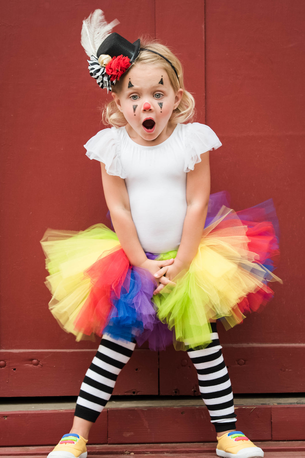 Clown Tutu and Legging Set Baby Toddler Costume