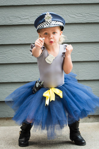 Navy Blue Toddler Kids Cop Tutu Costume
