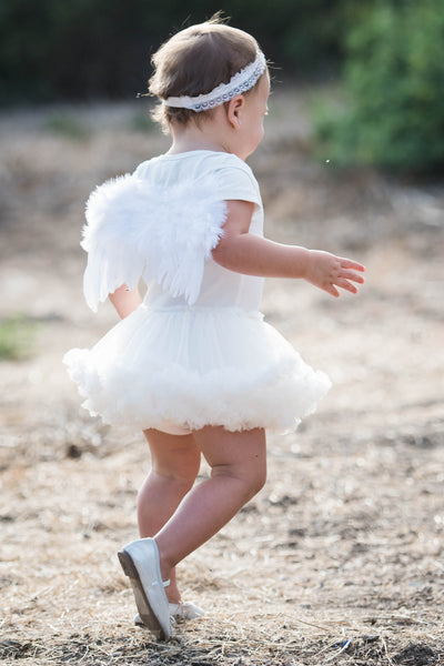 Baby Toddler Angel Costume Pettiskirt Onesie Dress