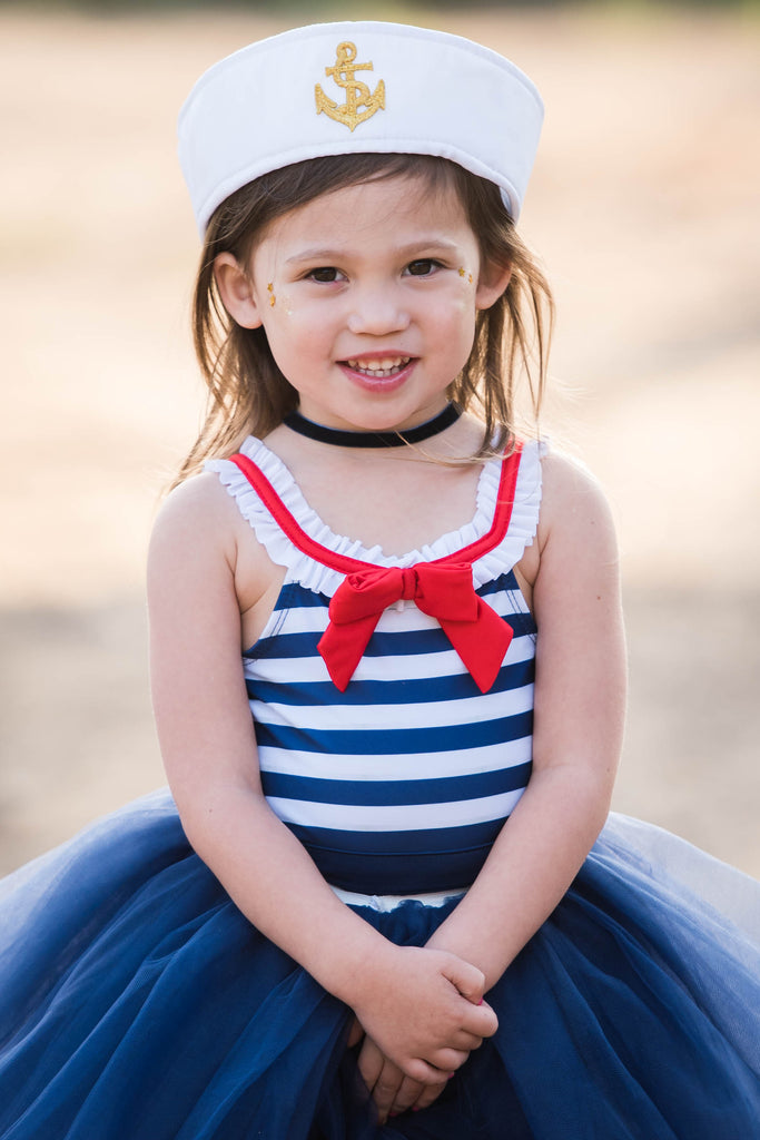 Navy Blue Sailor Baby Toddler Tutu Skirt