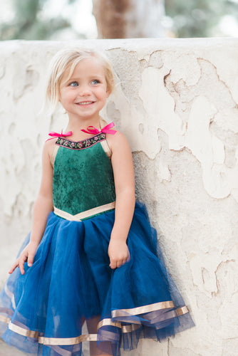 Anna Inspired Baby Toddler Costume Dress