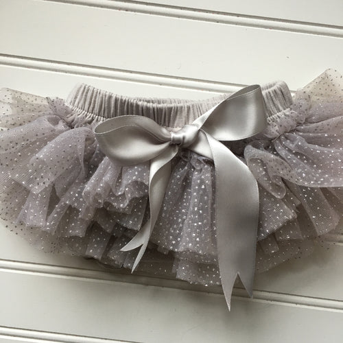 Bloomer Diaper Cover Chiffon Ruffle with Glitter