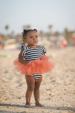 Pumpkin Stripes Orange tutu and Black and White Leotard