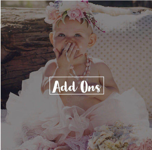 Add Ons - Extra Fluff, Headband, Bow, etc