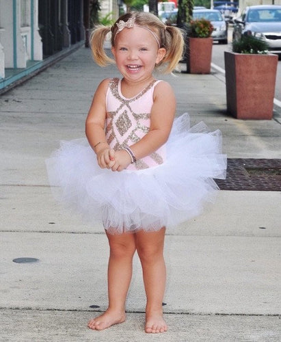 White Simple Baby Toddler Tutu for Costume