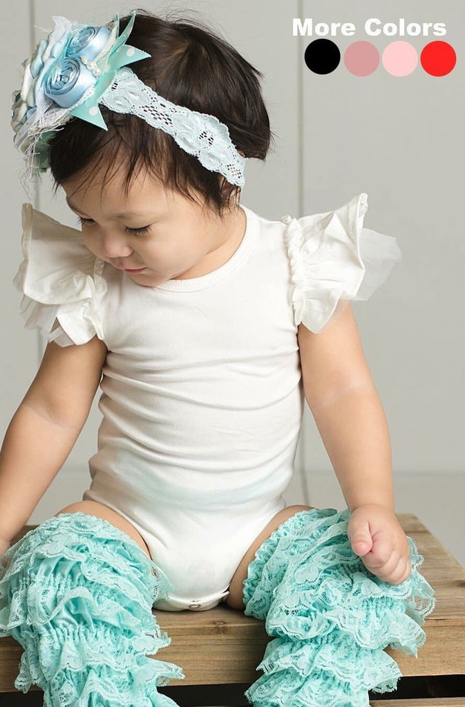 Double Layer Butterfly Sleeve Leotard Onesie