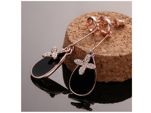 samiksha Tear drop shaped long danglers with sparkling zircons - Samiksha's - Ear Rings - www.samiksha.com