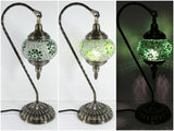 samiksha Hanging Swan Turkish Mosaic Table Lamp - ASL1 - Samiksha's - Lighting - www.samiksha.com