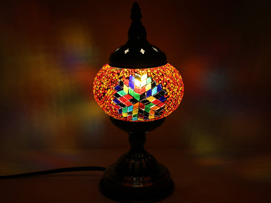 samiksha Turkish Mosaic Table Lamp with Bronze Finish - ACL7 - Samiksha's - Lighting - www.samiksha.com