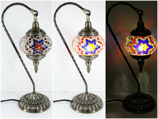 samiksha Hanging Swan Turkish Mosaic Table Lamp - ASL5 - Samiksha's - Lighting - www.samiksha.com