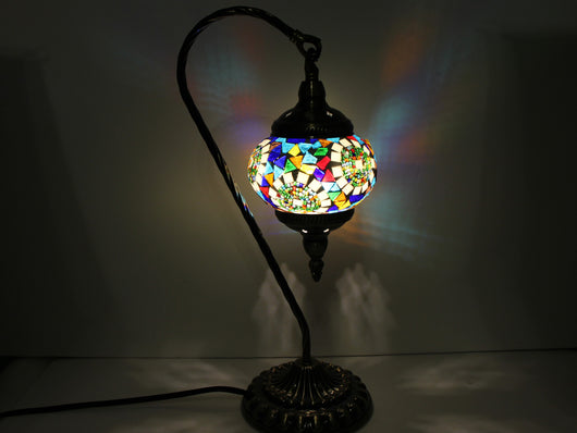samiksha Hanging Swan Turkish Mosaic Table Lamp - ASL4 - Samiksha's - Lighting - www.samiksha.com