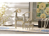 samiksha Family of Three Bighorn Sheep Sculptures with Golden Horns - Samiksha's - Sculptures - www.samiksha.com