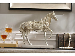 samiksha Majestic Horse Sculpture with a Metallic Silver Finish - Samiksha's - Sculptures - www.samiksha.com