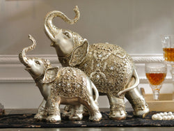 samiksha Pair of Magnificent Antique Look Bronze Elephant Sculptures - Samiksha's - Sculptures - www.samiksha.com