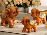 samiksha Family of Three Little Elephant Sculptures - Brown - Samiksha's - Sculptures - www.samiksha.com
