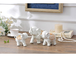 samiksha Family of Three Little Elephant Sculptures - White - Samiksha's - Sculptures - www.samiksha.com