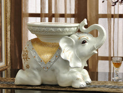 samiksha Royal Elephant Side Table with Golden Jhools - Samiksha's - Floor Decor - www.samiksha.com