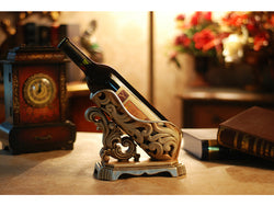 samiksha Vintage Look Silver Tone Wine Bottle Holder - Samiksha's - Wine bottle holder - www.samiksha.com