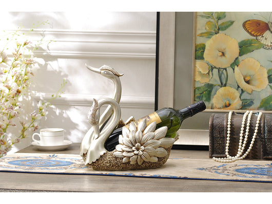 samiksha Loving Swans - Wine Bottle Holder / Fruit Storage - Samiksha's - Wine bottle holder - www.samiksha.com