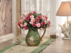 samiksha Green Love Birds Ceramic Vase and Canister Set - Samiksha's - Vase - www.samiksha.com