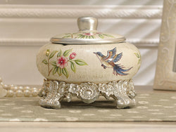 samiksha Old Fashion Ceramic Ashtray / Candy Jar with Lid - Samiksha's - Vase - www.samiksha.com