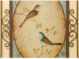 samiksha Lover Birds Metal Art - 2 Piece Set - Blue & Yellow - Samiksha's - Wall Art - www.samiksha.com