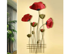 samiksha Red Poppy Metal Wall Decor - Samiksha's - Wall Art - www.samiksha.com