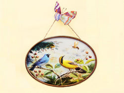 samiksha Blue Bird Paradise 3D Metal Wall Art - 2 Piece Horizontal Set - Samiksha's - Wall Art - www.samiksha.com