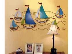 samiksha Colorful Fleet of Sail Boats Wall Art - Extra Wide - Samiksha's - Wall Art - www.samiksha.com