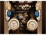 samiksha Double Sided Hanging Peacock Clock - Samiksha's - Wall Clocks - www.samiksha.com