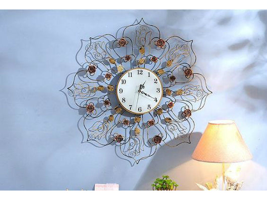 samiksha Antique look Metallic Copper Wall Clock - Samiksha's - Wall Clocks - www.samiksha.com