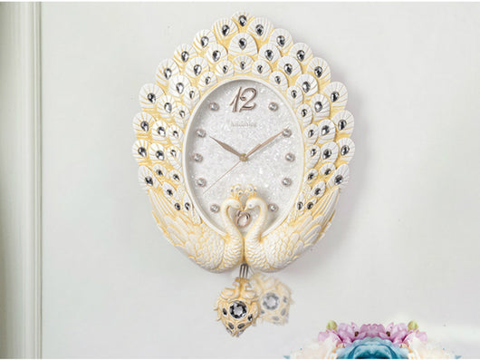samiksha Dancing Peacock Clock with Pendulum - Samiksha's - Wall Clocks - www.samiksha.com